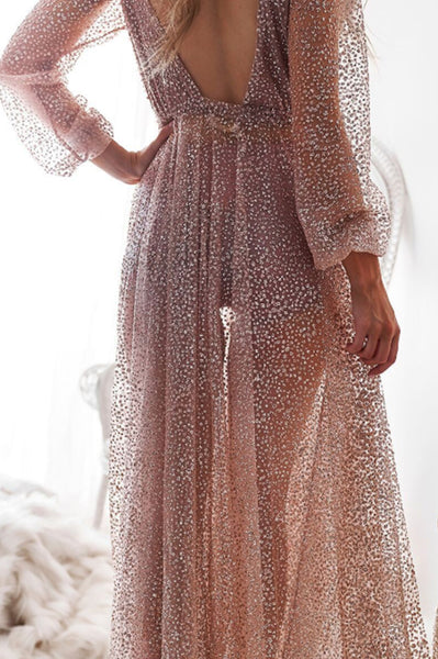 Nala Glitter Gown Dress (Rose Gold)