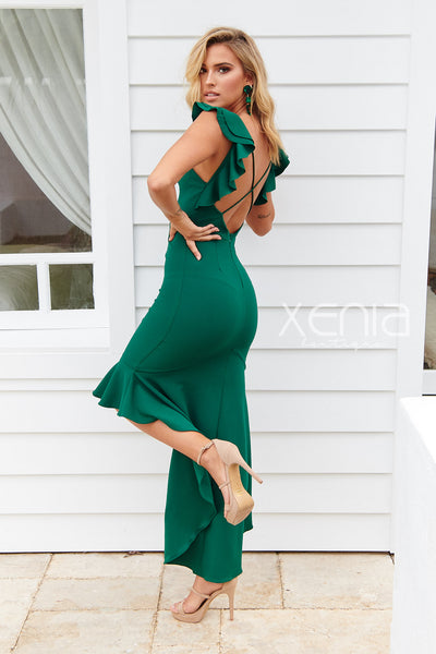One Sweet Day Maxi Dress (Forest Green)