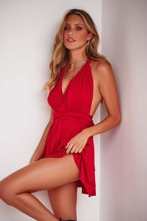 9605bf98a180 The Perfect Date Dress (Red)