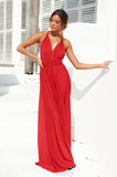 The Perfect Date 2.0 Multiway Maxi Dress (Red)