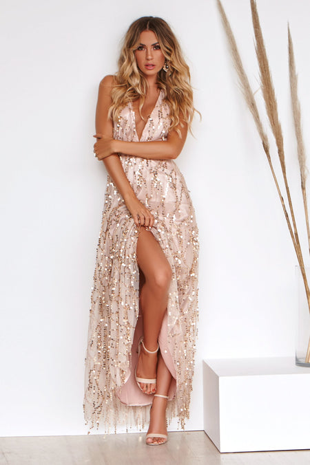 Girl On Fire Maxi Dress (Rose)