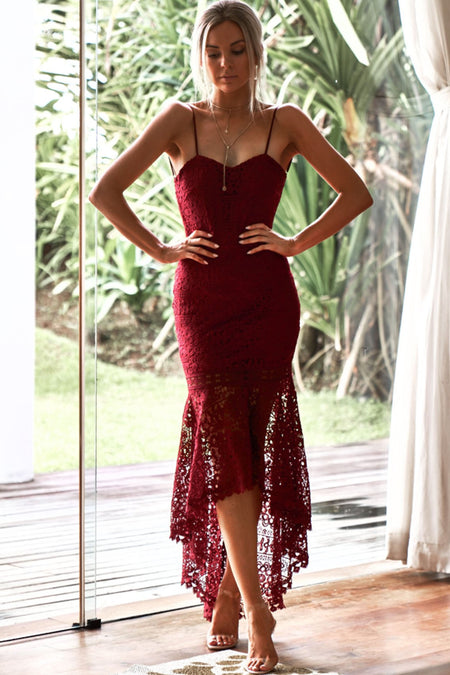 Shay Lace Dress (Berry)