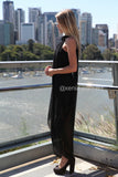 Princess Diaries Maxi Dress-Side1,Black