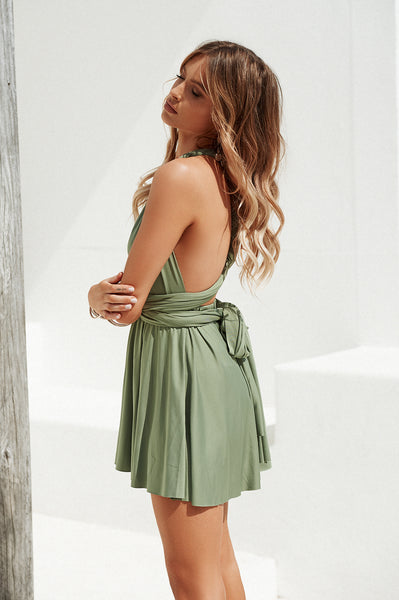 Perfect Date Dress (Khaki)