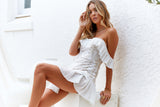 Premium Love Dress (Nude/White)