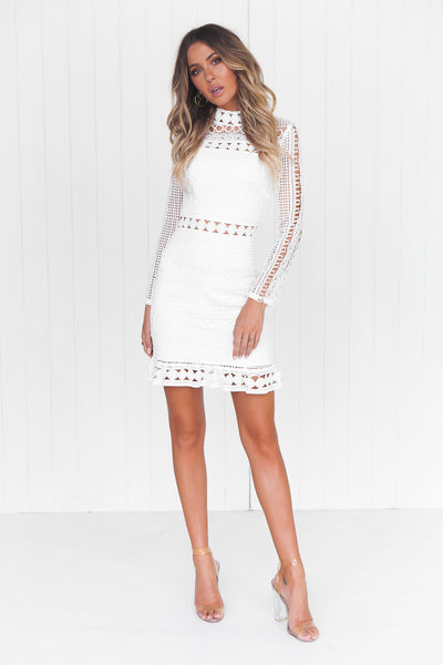 Riverdale Lace Dress (White)