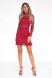 Riverdale Lace Dress (Wine)