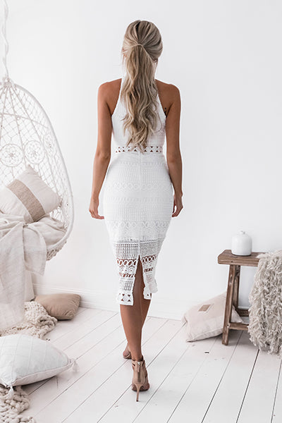 **Rivers Midi Dress (White)