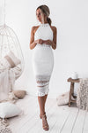 RIVERS MIDI DRESS,WHITE ,FRONT,XENIA BOUTIQUE