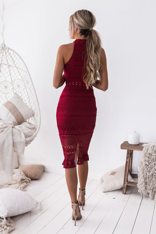 Rivers Midi Dress (Wine)