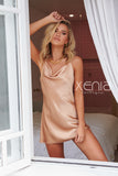 Romance Satin Slip Dress (Gold)