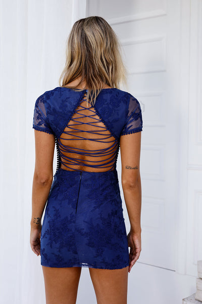 Shay Lace Dress (Navy)