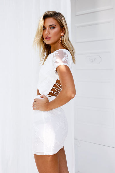 Shai Lace Dress (White)