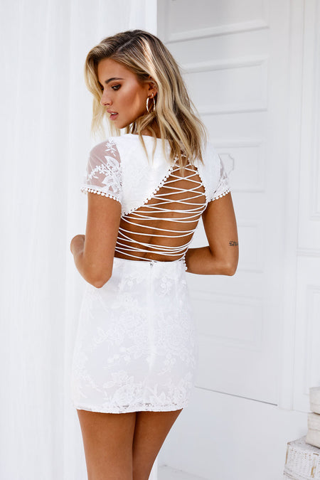For Our Love Dress (Nude/White)