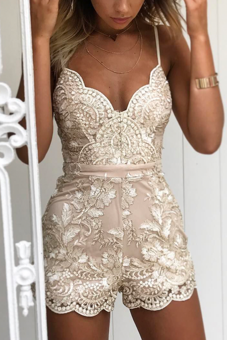 Breathtaking 2.0 Dress (Gold/Beige)