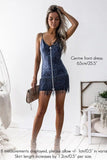 Shimmy Dress (Steel Blue)