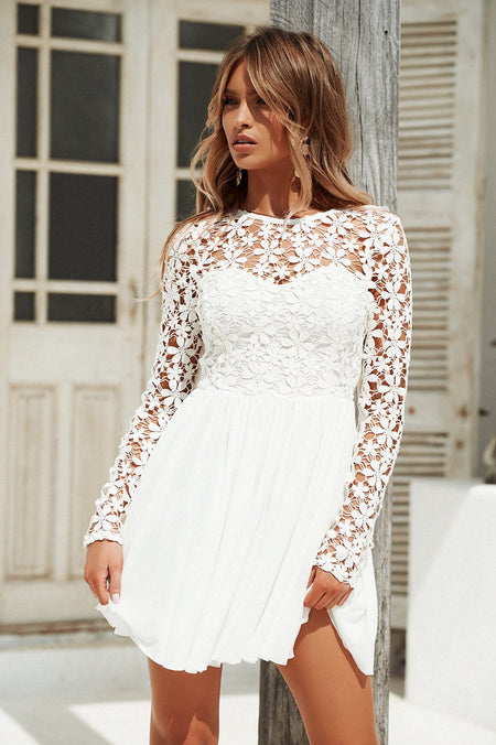 Fine Dine Dress (White)