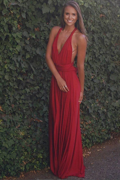The Perfect Date Multiway Maxi Dress (Red)