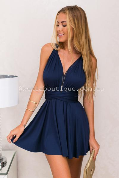 The Perfect Date Dress (Navy)