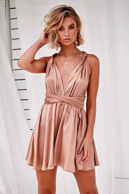 Jessica Dress (Black/Nude)