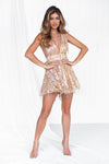 The Perfect Date Sequin Dress (Rose/Gold)
