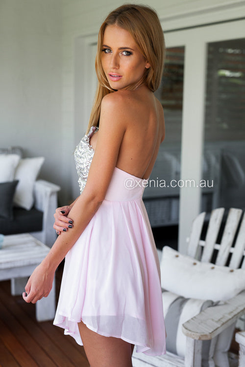 Touch Of Class Dress (Baby Pink)
