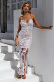 Unforgettable Maxi Dress, Silver, Front