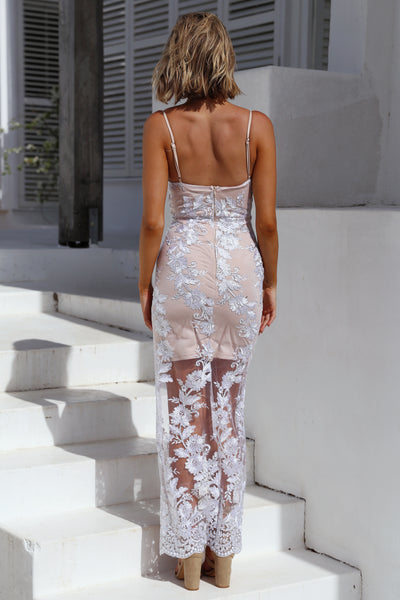 Unforgettable Maxi Dress, Silver, Back