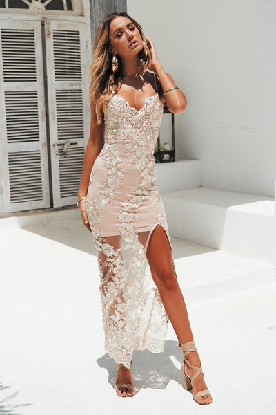 Unforgettable Maxi Dress (Gold)