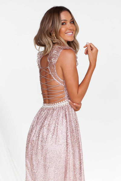 Wealth of Glitter Maxi (Rose Gold)