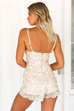 Shine Bright Like A Diamond Romper (Nude/Gold)