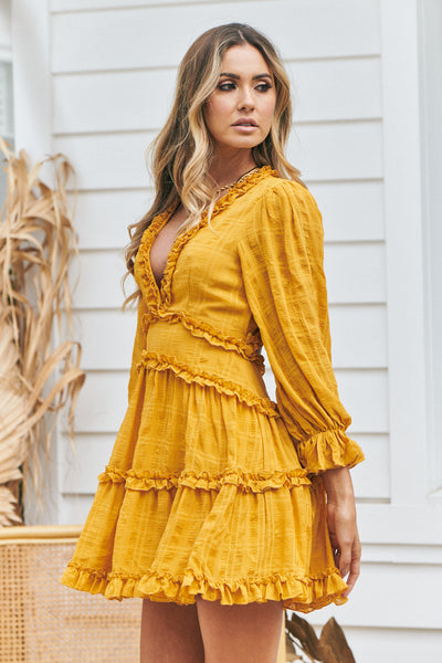 High Tea Dress (Mustard)
