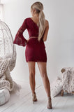 Elysian Dress (Wine)