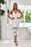 ESTELLE DRESS , WHITE XENIA BOUTIQUE , TWO SISTERS THE LABEL , KYLIE JENNER , KYLIE COSMETICS, KIRSTY FLEMMING ,