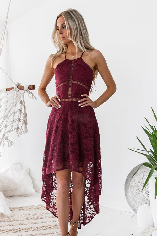 Hazel Dress (Burgundy)