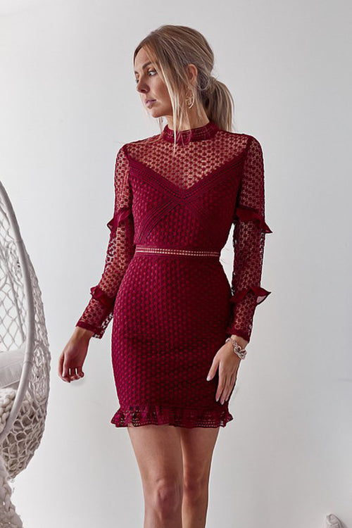 Isla Dress (Wine)