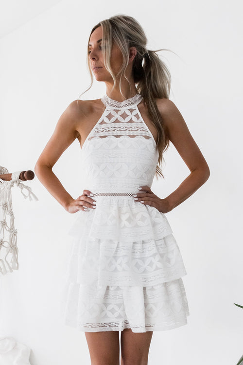 Janice Dress (White)