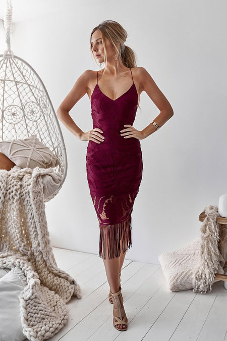 Rivers Midi Dress (Mauve)