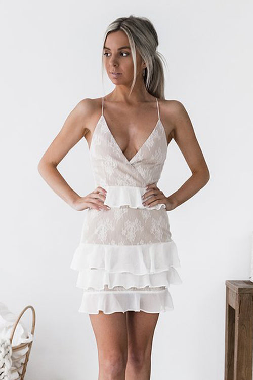 Presley Dress (Nude/White)
