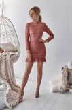 Riverdale Lace Dress (Mauve)