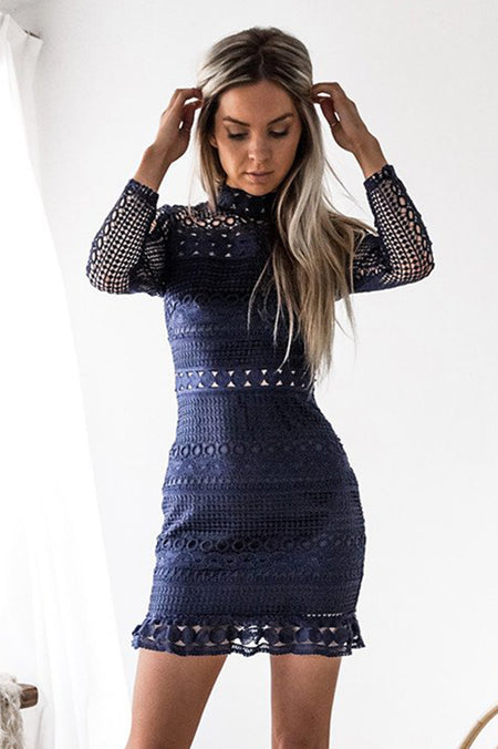 Gold Foil Dress (Blue)