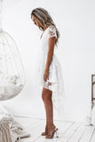 Shay High Low Dress (White)