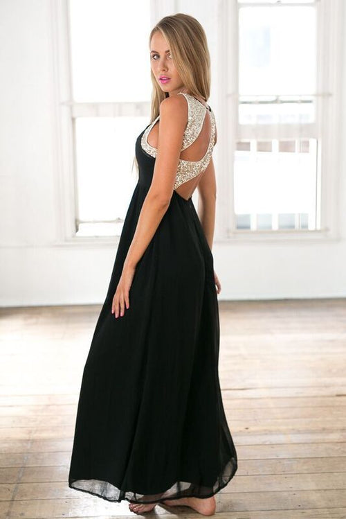 Stunner Maxi Dress (Black)