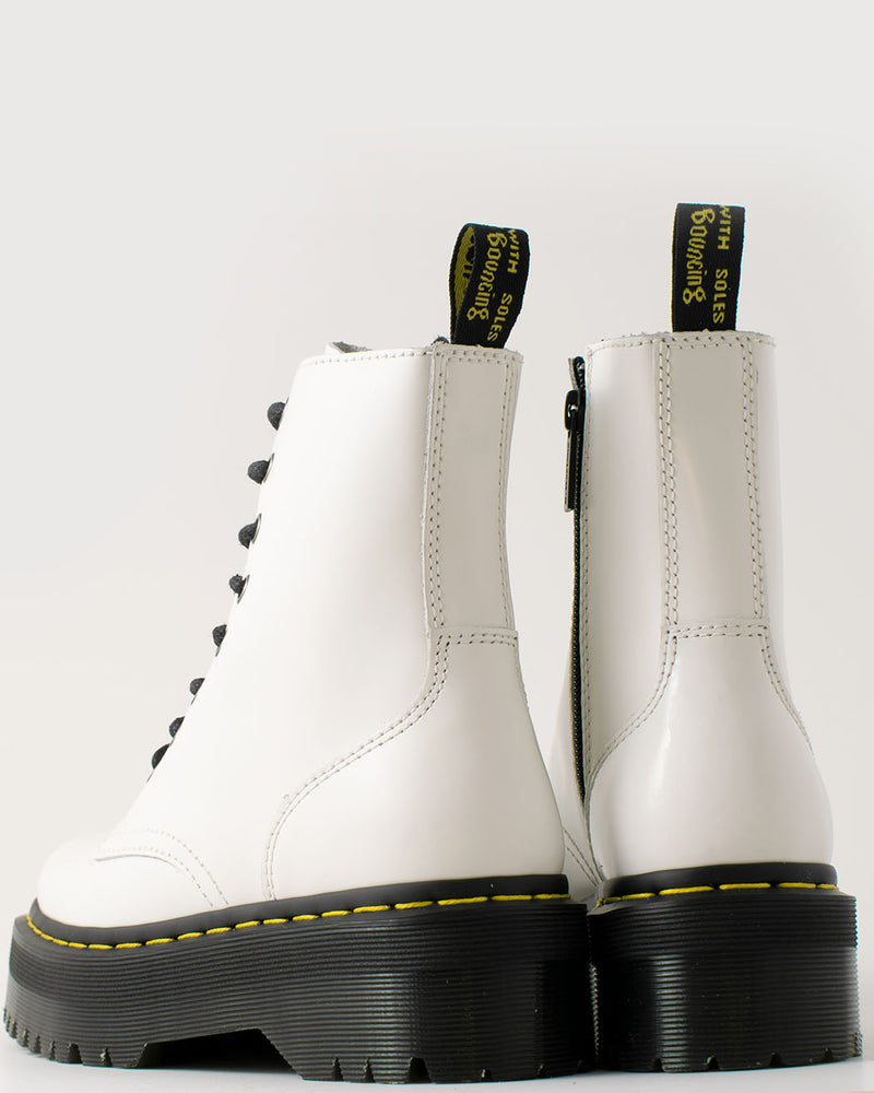 Dr. Martens Dr. Martens, Jadon White Polished Smooth - Pick Up - Dusseldorf