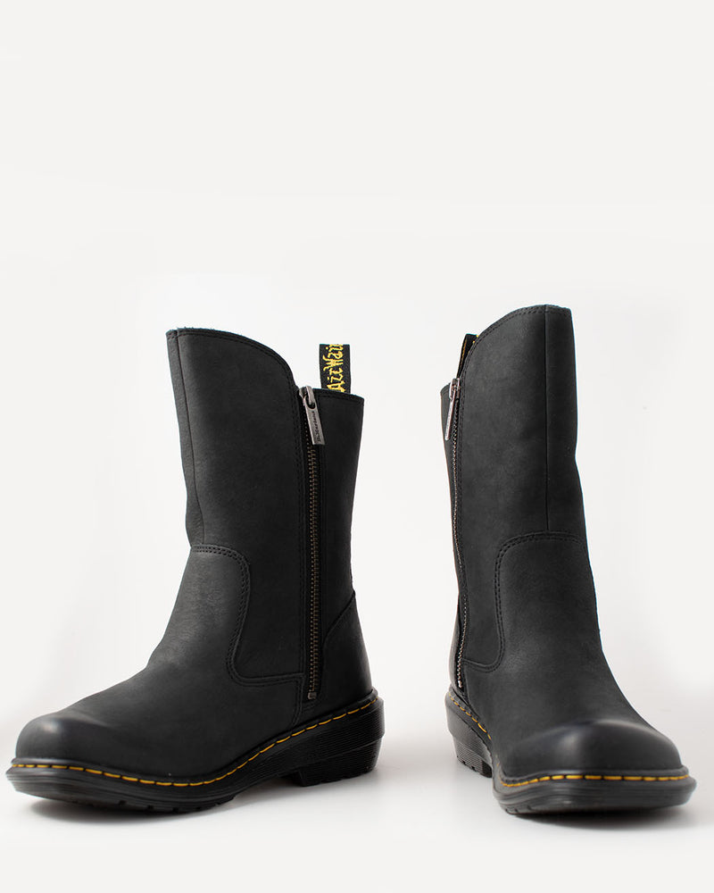 Dr. Martens Dr. Martens, Vaux Mid Black Burnish Mirage - Pick Up - Dusseldorf
