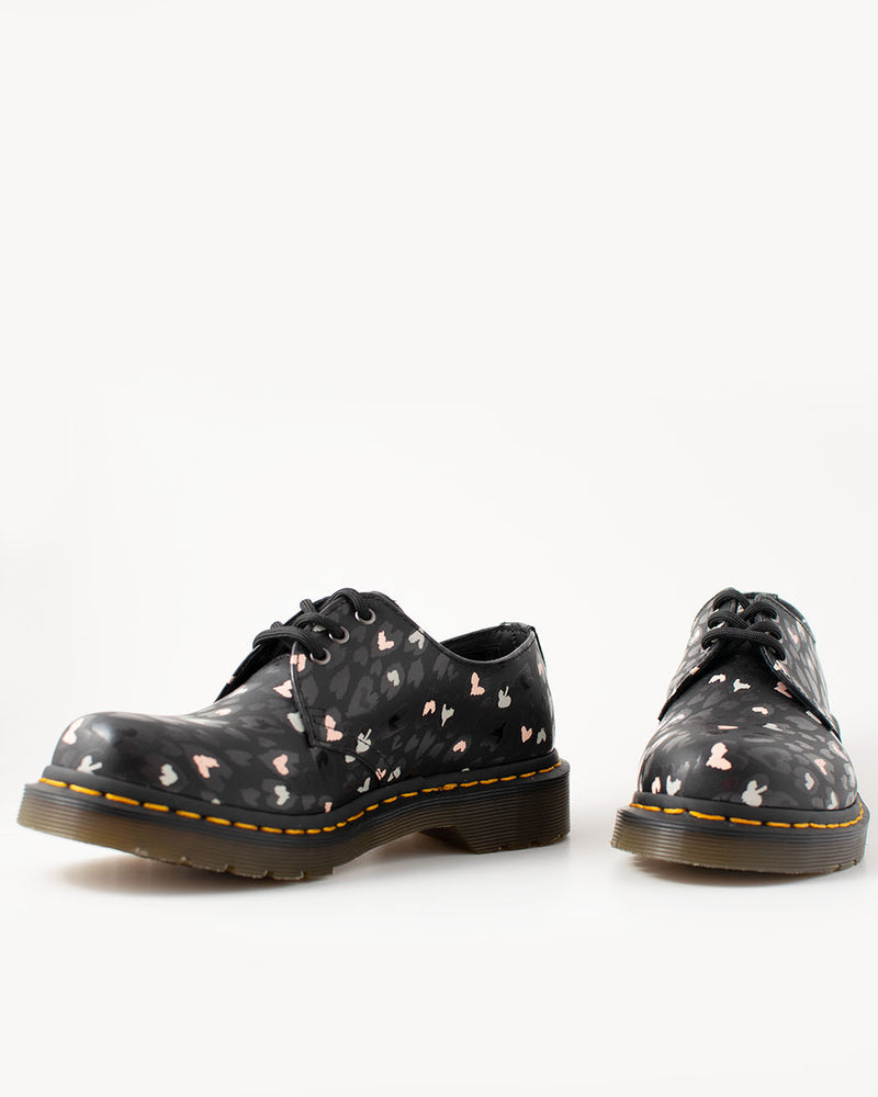 Dr. Martens Dr. Martens, 1461 BLACK MULTI CUSTOM, CHAOS HEARTS BACKHAND - Pick Up - Dusseldorf