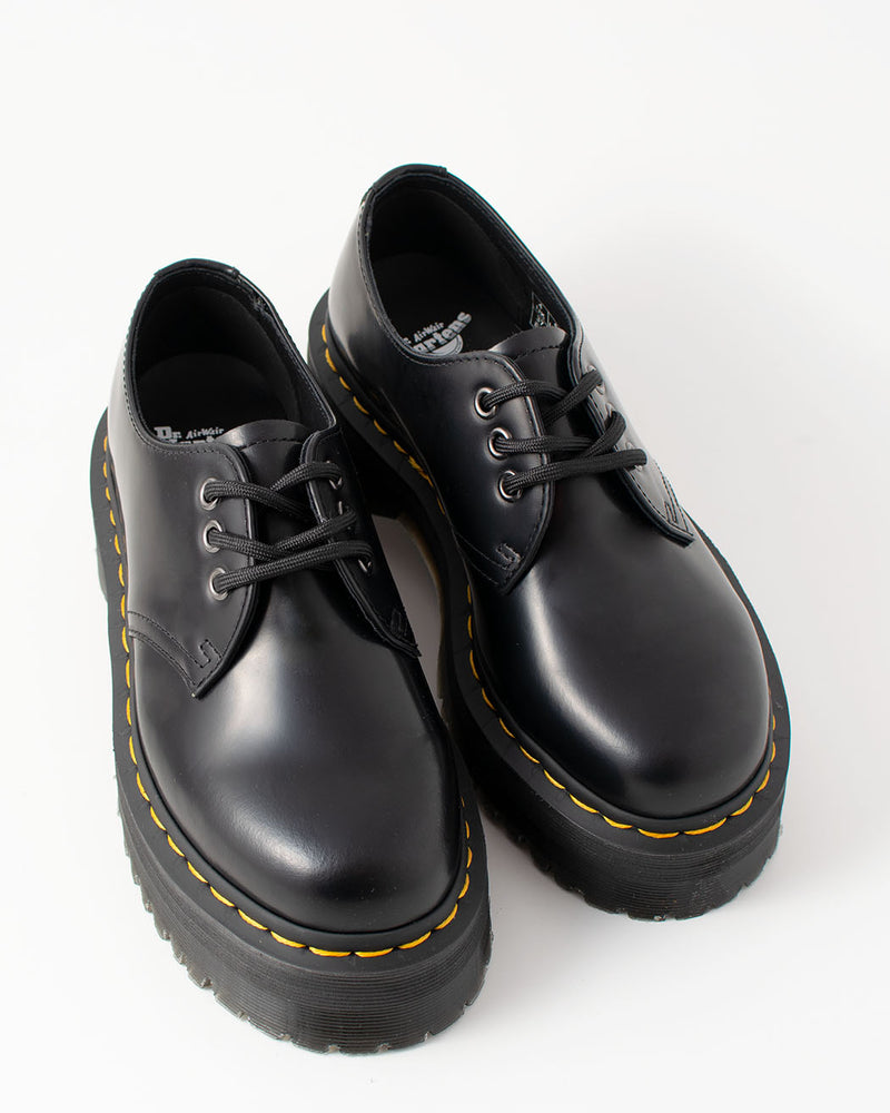 Dr. Martens Dr. Martens, 1461 QUAD Black Polished Smooth - Pick Up - Dusseldorf