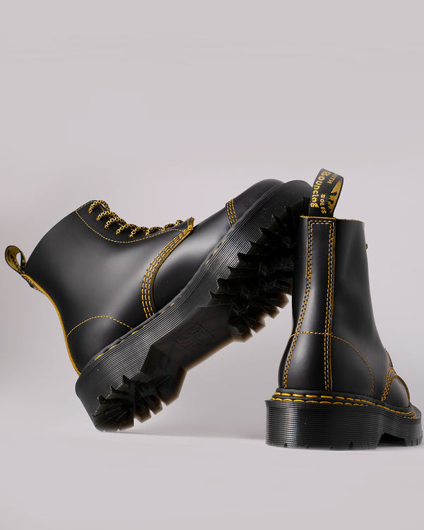Dr. Martens Dr. Martens, 1460 Pascal Bex DS Black+Yellow Smooth Slice - Pick Up - Dusseldorf