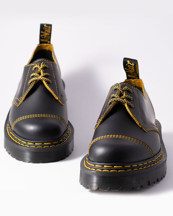 Dr. Martens Dr. Martens, 1461 BEX DS, BLACK+YELLOW SMOOTH SLICE - Pick Up - Dusseldorf