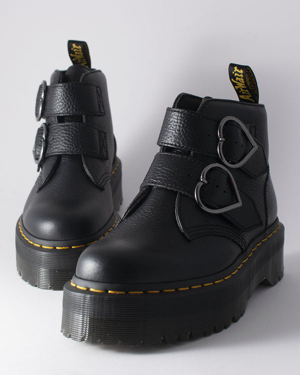 Dr. Martens Dr. Martens, Devon Heart Black Milled Nappa - Pick Up - Dusseldorf